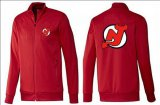 Cheap NHL New Jersey Devils Zip Jackets Red