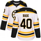 Cheap Adidas Bruins #40 Tuukka Rask White Road Authentic Women's Stitched NHL Jersey