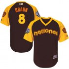 Cheap Brewers #8 Ryan Braun Brown 2016 All-Star National League Stitched Youth MLB Jersey