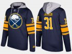 Cheap Sabres #31 Chad Johnson Blue Name And Number Hoodie