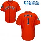 Cheap Astros #1 Carlos Correa Orange Cool Base 2019 World Series Bound Stitched Youth MLB Jersey