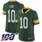 Cheap Nike Packers #10 Jordan Love Green Team Color Youth Stitched NFL 100th Season Vapor Untouchable Limited Jersey