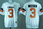 Cheap Oklahoma State Cowboys #3 Brandon Weeden White Pro Combat Jersey