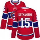 Cheap Adidas Canadiens #15 Jesperi Kotkaniemi Red Home Authentic Women's Stitched NHL Jersey
