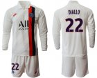 Cheap Paris Saint-Germain #22 Diallo Away Long Sleeves Soccer Club Jersey