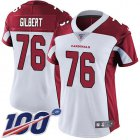 Cheap Nike Cardinals #76 Marcus Gilbert White Women's Stitched NFL 100th Season Vapor Untouchable Limited Jersey