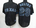 Cheap Rangers #29 Adrian Beltre Black Fashion Stitched Baseball Jersey
