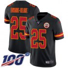 Cheap Nike Chiefs #25 Clyde Edwards-Helaire Black Youth Stitched NFL Limited Rush 100th Season Jersey