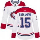 Cheap Adidas Canadiens #15 Jesperi Kotkaniemi White Road Authentic Women's Stitched NHL Jersey