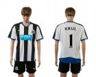 Cheap Newcastle #1 Krul Home Soccer Club Jersey