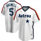 Cheap Houston Astros #5 Jeff Bagwell Nike Home Cooperstown Collection Logo Player MLB Jersey White