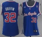 Cheap Los Angeles Clippers #32 Blake Griffin Blue Womens Jersey