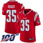 Cheap Nike Patriots #35 Kyle Dugger Red Youth Stitched NFL Limited Inverted Legend 100th Season Jersey