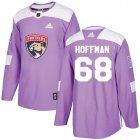 Cheap Adidas Panthers #68 Mike Hoffman Purple Authentic Fights Cancer Stitched Youth NHL Jersey