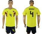 Cheap Colombia #4 Ramirez Home Soccer Country Jersey