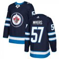 Cheap Adidas Jets #57 Tyler Myers Navy Blue Home Authentic Stitched NHL Jersey