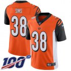 Cheap Nike Bengals #38 LeShaun Sims Orange Alternate Youth Stitched NFL 100th Season Vapor Untouchable Limited Jersey