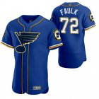 Cheap St. Louis Blues #72 Justin Faulk Men's 2020 NHL x MLB Crossover Edition Baseball Jersey Blue
