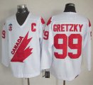 Cheap Olympic 1991 CA. #99 Wayne Gretzky White CCM Throwback Stitched NHL Jersey