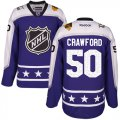 Cheap Blackhawks #50 Corey Crawford Purple 2017 All-Star Central Division Women's Stitched NHL Jersey