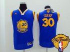 Cheap Youth Golden State Warriors #30 Stephen Curry Blue 2016 The NBA Finals Patch Jersey