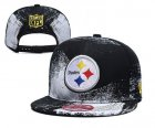 Cheap Steelers Team Logo Black White Adjustable Hat YD