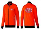 Cheap NHL Montreal Canadiens Zip Jackets Orange-1