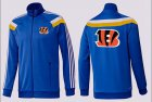Cheap NFL Cincinnati Bengals Team Logo Jacket Blue_2