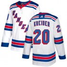 Cheap Adidas Rangers #20 Chris Kreider White Road Authentic Stitched Youth NHL Jersey