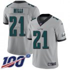 Cheap Nike Eagles #21 Jalen Mills Silver Men's Stitched NFL Limited Inverted Legend 100th Season Jersey