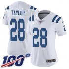Cheap Nike Colts #28 Jonathan Taylor White Women's Stitched NFL 100th Season Vapor Untouchable Limited Jersey