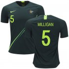 Cheap Australia #5 Milligan Away Soccer Country Jersey