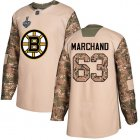 Cheap Adidas Bruins #63 Brad Marchand Camo Authentic 2017 Veterans Day Stanley Cup Final Bound Youth Stitched NHL Jersey