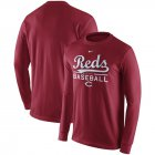 Cheap Cincinnati Reds Nike Practice Long Sleeve T-Shirt Red