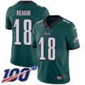 Cheap Nike Eagles #18 Jalen Reagor Green Team Color Men's Stitched NFL 100th Season Vapor Untouchable Limited Jersey