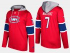 Cheap Canadiens #7 Howie Morenz Red Name And Number Hoodie