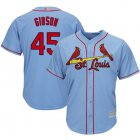 Cheap Cardinals #45 Bob Gibson Light Blue Cool Base Stitched Youth MLB Jersey