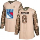 Cheap Adidas Rangers #8 Jacob Trouba Camo Authentic 2017 Veterans Day Stitched NHL Jersey