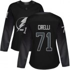 Cheap Adidas Lightning #71 Anthony Cirelli Black Alternate Authentic Women's Stitched NHL Jersey