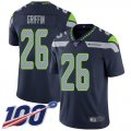 Cheap Nike Seahawks #26 Shaquem Griffin Steel Blue Team Color Men's Stitched NFL 100th Season Vapor Limited Jersey