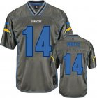 Cheap Nike Chargers #14 Dan Fouts Grey Men's Stitched NFL Elite Vapor Jersey