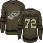 Cheap Adidas Red Wings #72 Andreas Athanasiou Green Salute to Service Stitched Youth NHL Jersey