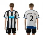 Cheap Newcastle #2 Coloccini Home Soccer Club Jersey