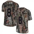 Cheap Nike Buccaneers #8 Bradley Pinion Camo Men's Stitched NFL Limited Rush Realtree Jersey