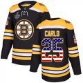 Cheap Adidas Bruins #25 Brandon Carlo Black Home Authentic USA Flag Stanley Cup Final Bound Stitched NHL Jersey