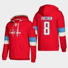 Cheap Washington Capitals #8 Alex Ovechkin Red adidas Lace-Up Pullover Hoodie