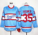 Cheap Royals #35 Eric Hosmer Light Blue Long Sleeve Stitched MLB Jersey