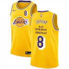 Cheap Lakers 8 Kobe Bryant Yellow Nike R.I.P Swingman Jersey