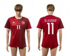 Cheap Danmark #11 B.Laudrup Red Home Soccer Country Jersey