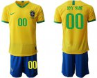 Cheap Brazil Personalized Home Soccer Country Jersey